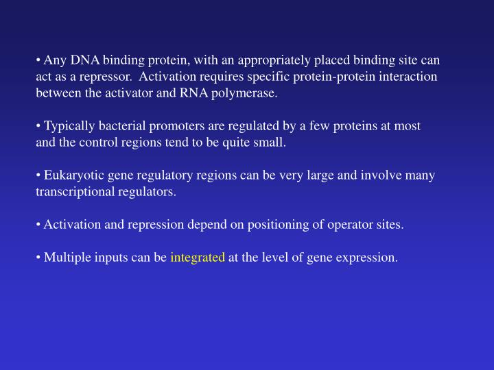 Any DNA binding protein, with an appropriately placed binding site can act as a repressor.  Activation requires specific protein-protein interaction between the activator and RNA polymerase.