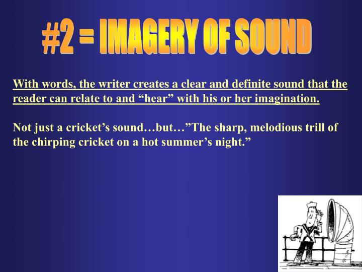 #2 = IMAGERY OF SOUND