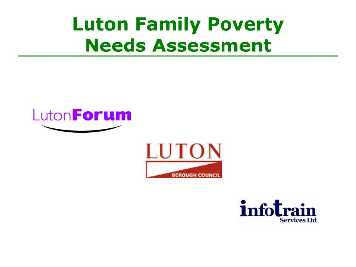 Luton family poverty needs assessment