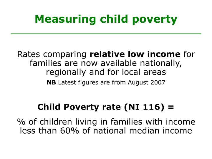 Measuring child poverty