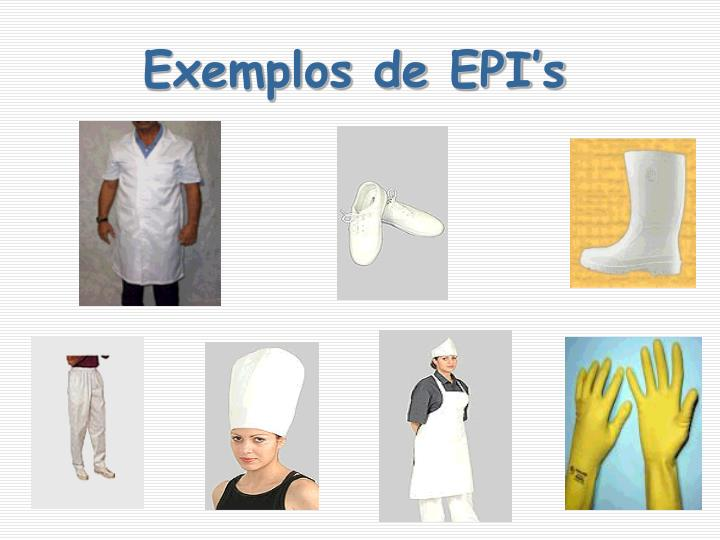 Exemplos de EPI's