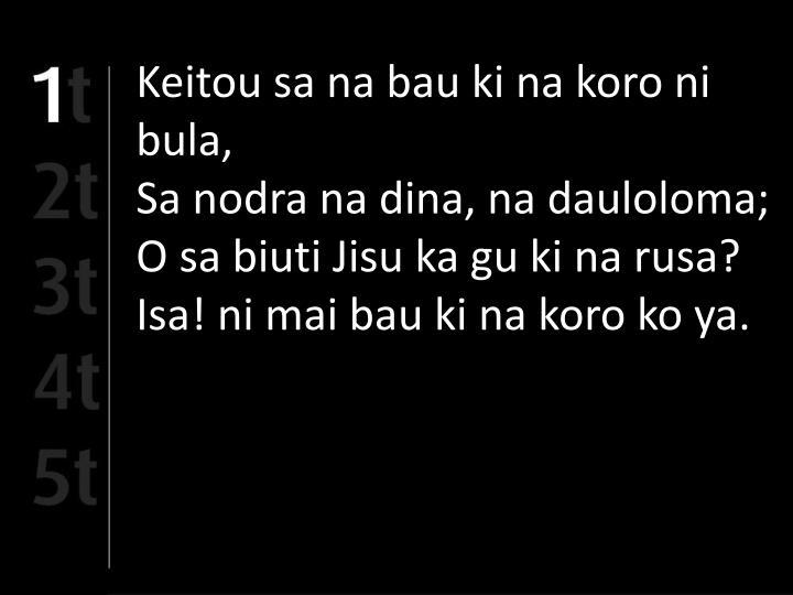 Keitou sa na bau ki na koro ni bula,