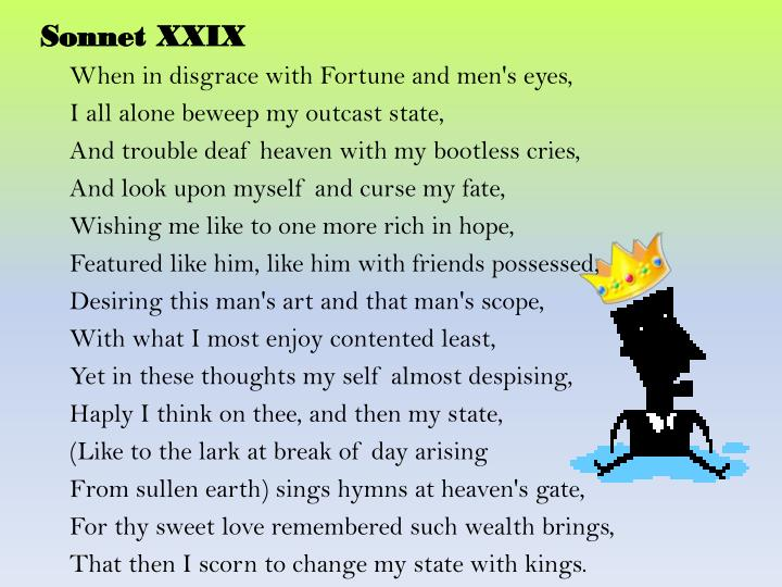Sonnet XXIX