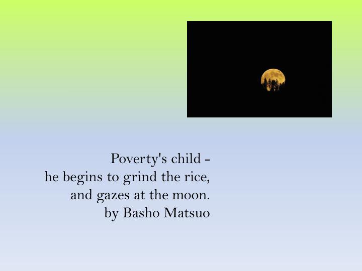 Poverty's child -