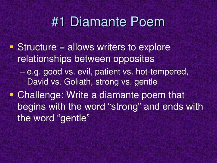 #1 Diamante Poem