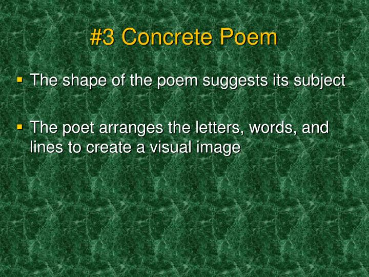 #3 Concrete Poem