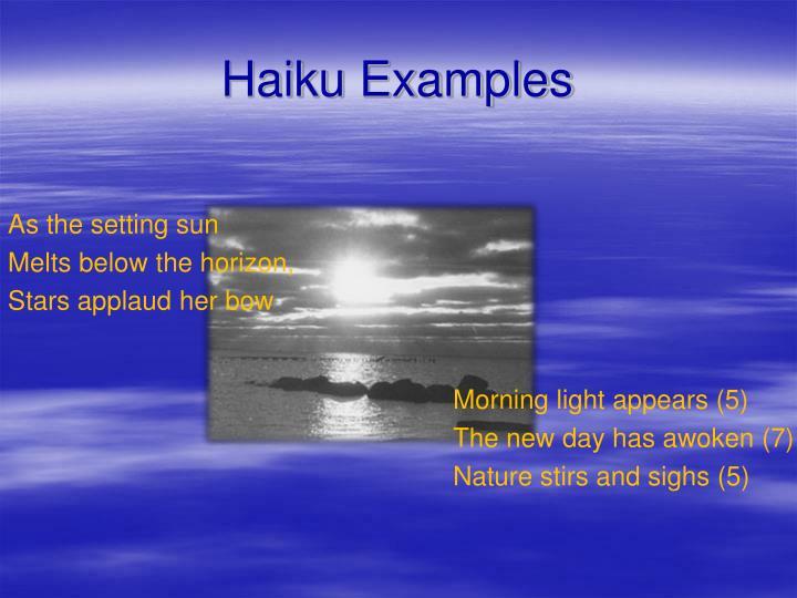 Haiku Examples