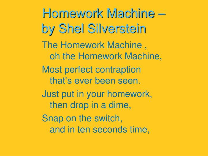 Homework Machine –