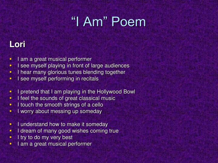 """""""I Am"""" Poem"""
