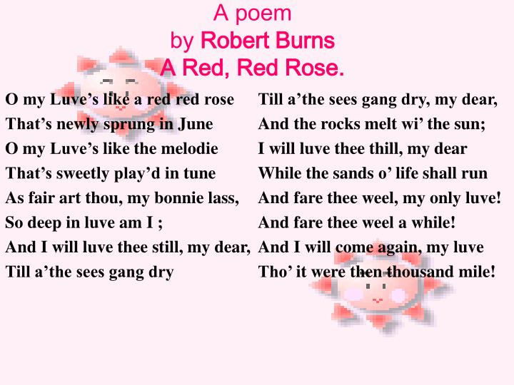 O my Luve's like a red red rose