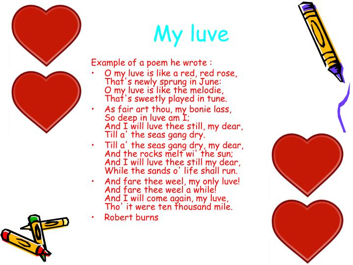 My luve