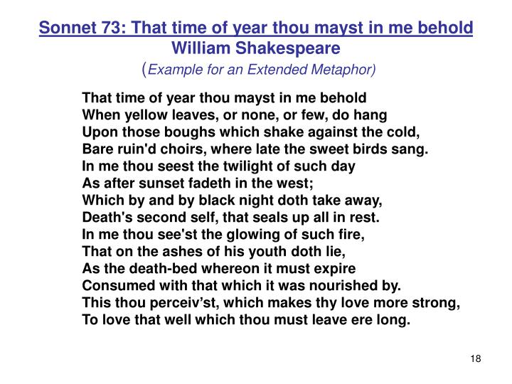 Sonnet 73: That time of year thou mayst in me behold