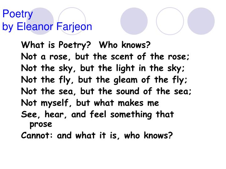 Poetry by eleanor farjeon