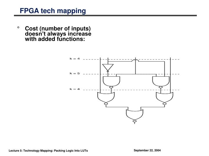 FPGA tech mapping
