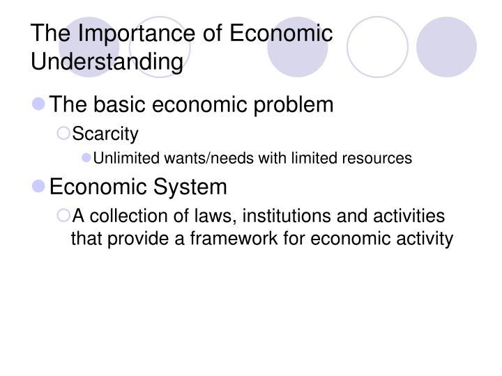 The Importance of Economic Understanding