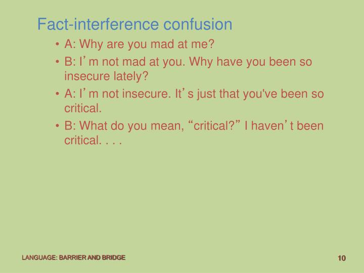 Fact-interference confusion