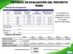 criterios de evaluaci n del proyecto puro1