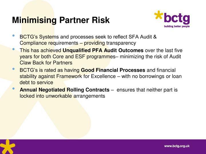 Minimising Partner Risk