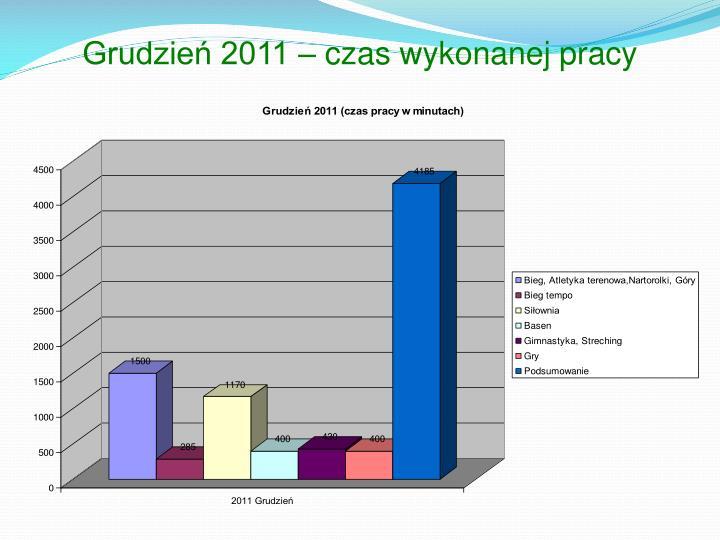 Grudzień 2011 – czas wykonanej pracy