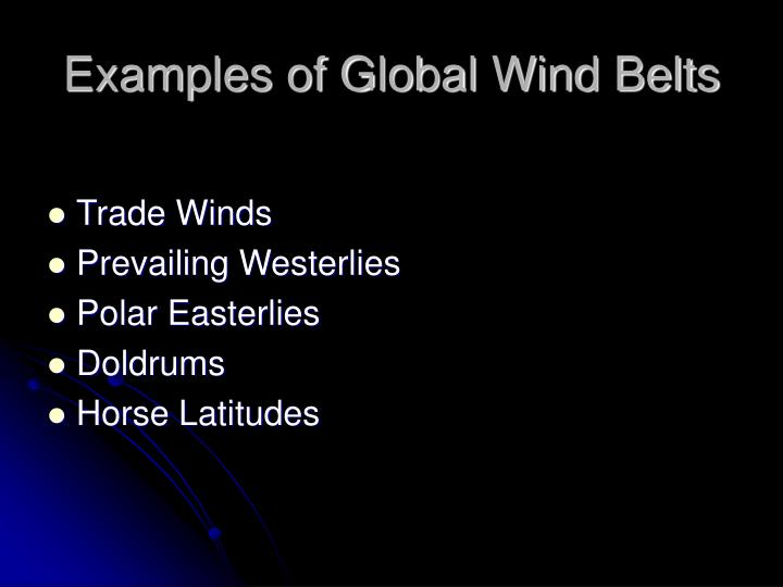 Examples of Global Wind Belts