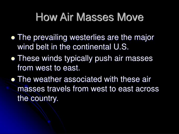 How Air Masses Move