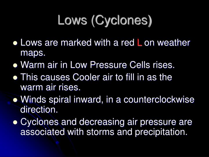 Lows (Cyclones)