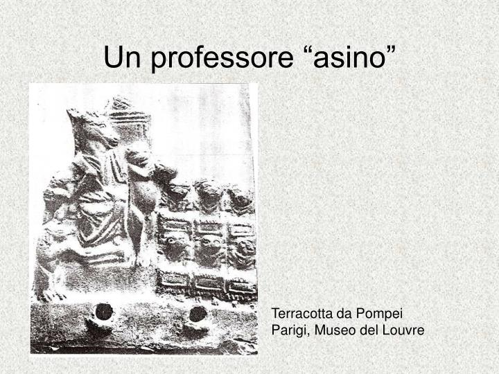 """Un professore """"asino"""""""