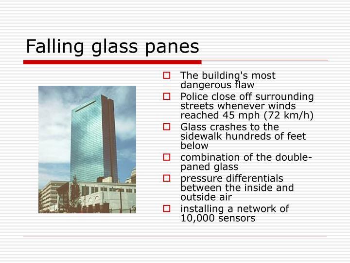 Falling glass panes