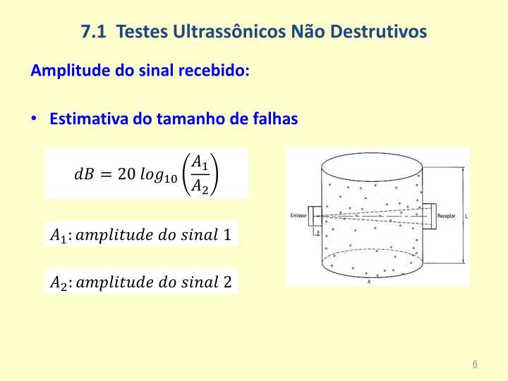 7.1  Testes Ultrassônicos Não Destrutivos