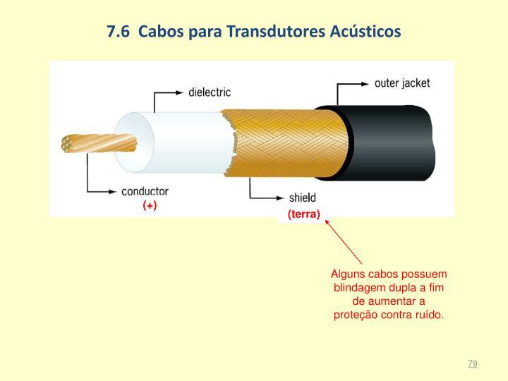 7.6  Cabos para Transdutores Acústicos