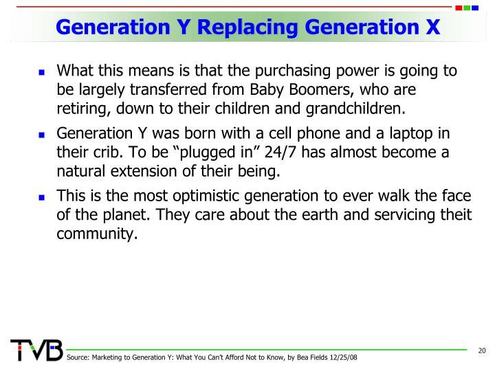 Generation Y Replacing Generation X