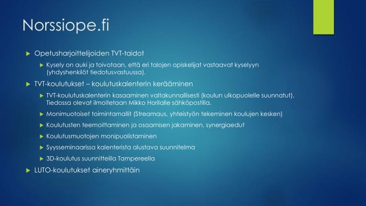 Norssiope.fi