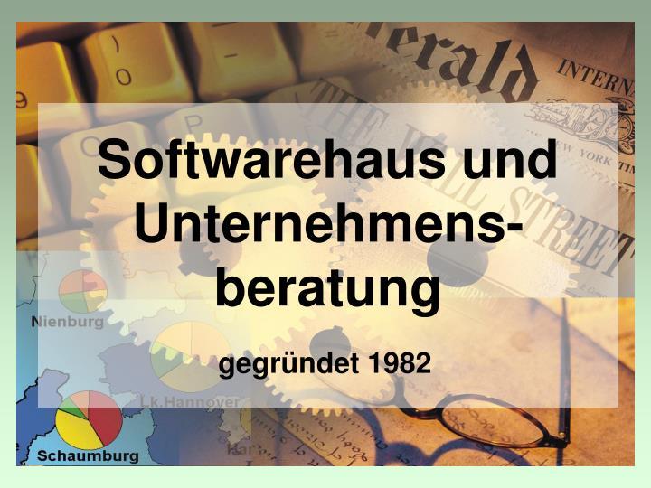Softwarehaus und Unternehmens-beratung