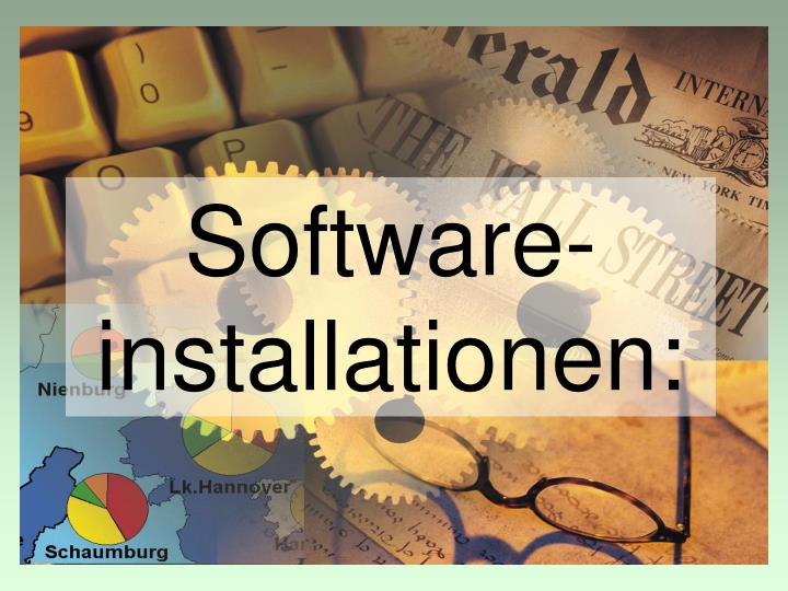 Software-installationen: