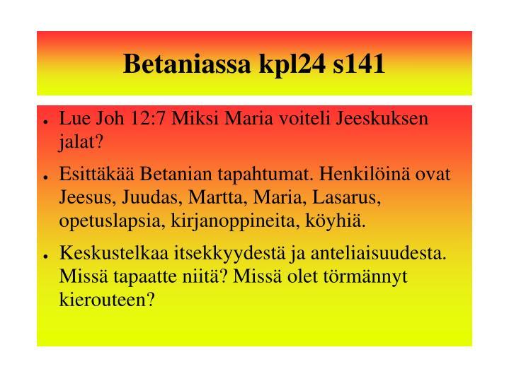 Betaniassa kpl24 s141