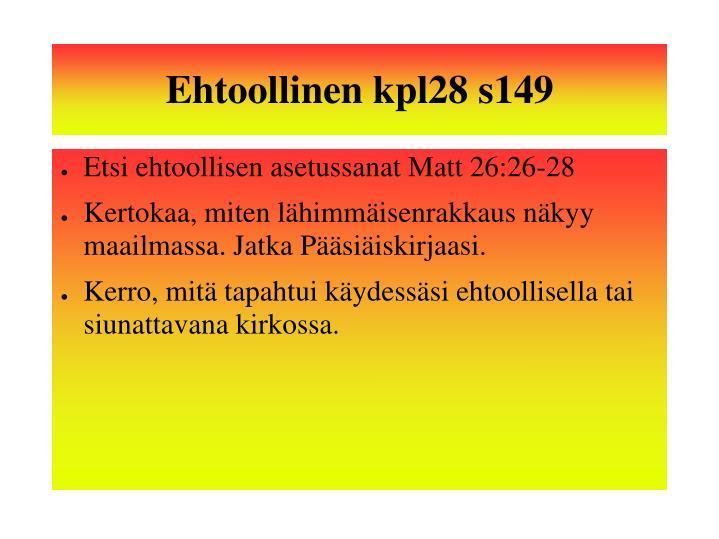 Ehtoollinen kpl28 s149