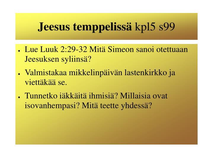 Jeesus temppelissä