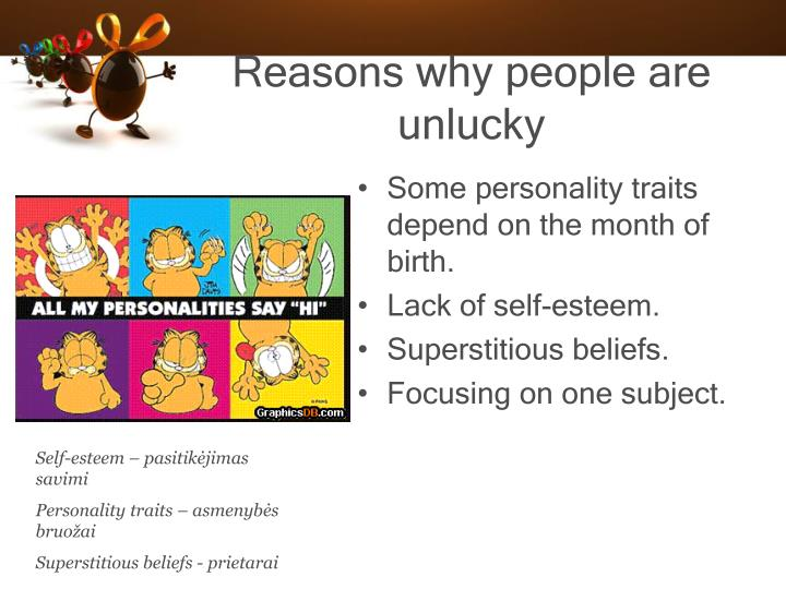 Reasons why people are unlucky