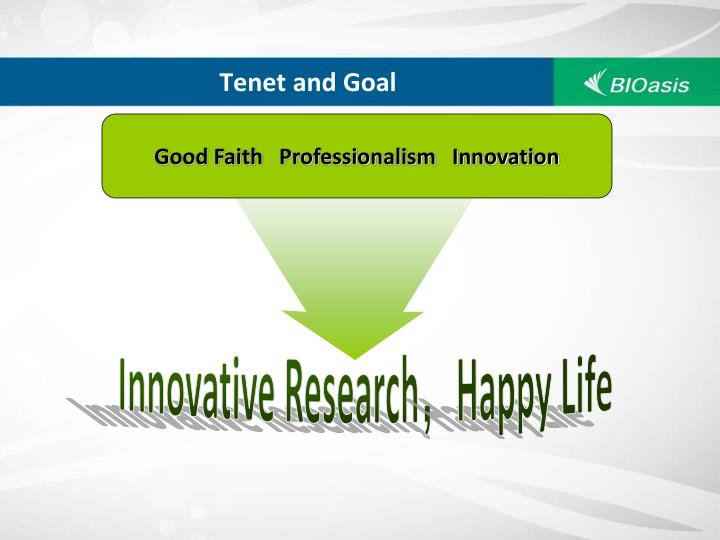 Tenet and Goal