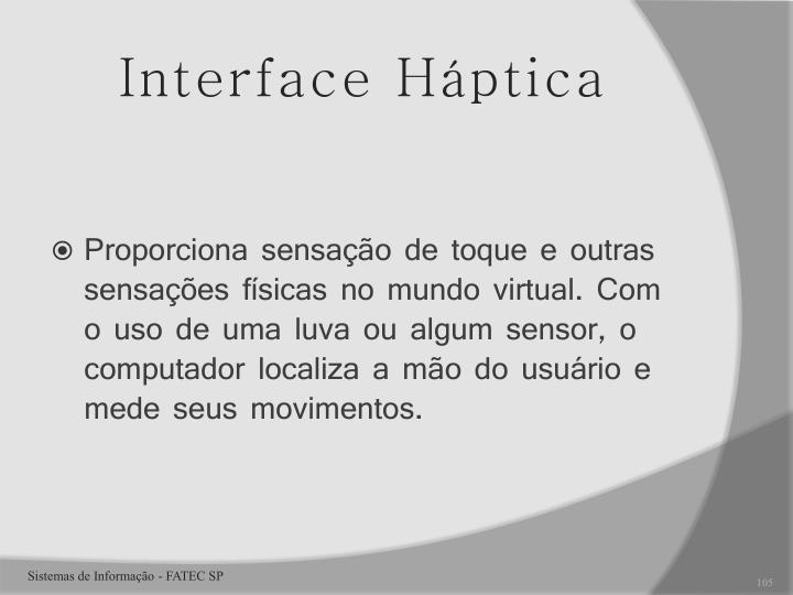Interface Háptica