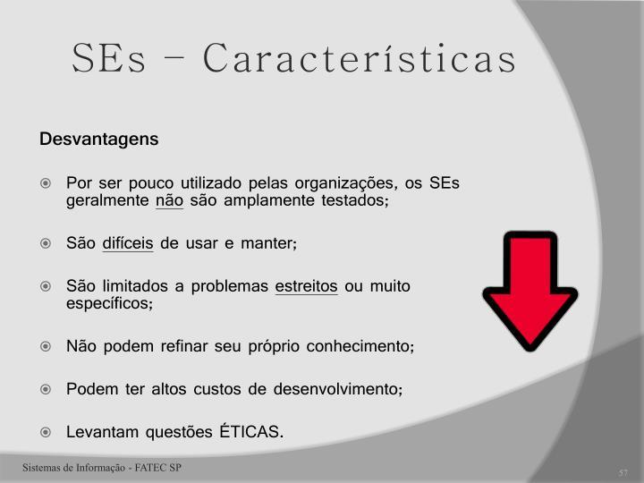 SEs – Características