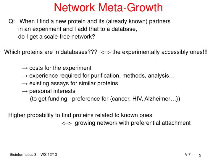 Network meta growth