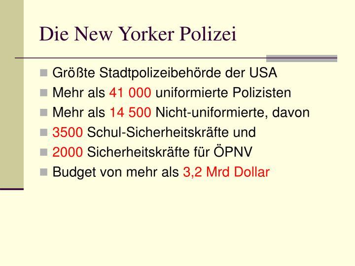 Die New Yorker Polizei
