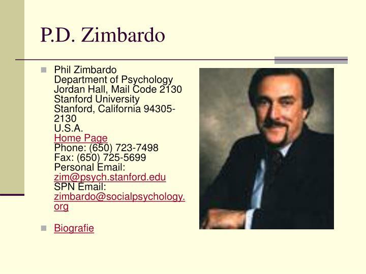 P.D. Zimbardo