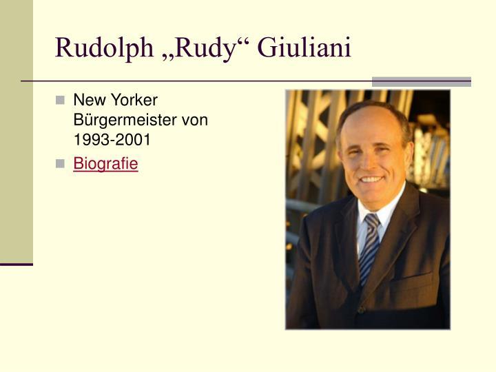"Rudolph ""Rudy"" Giuliani"