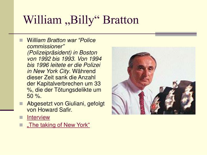 """William """"Billy"""" Bratton"""