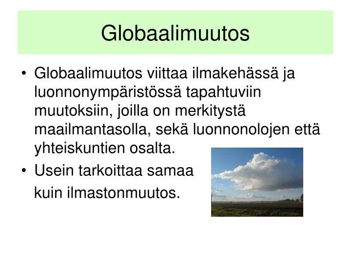 Globaalimuutos