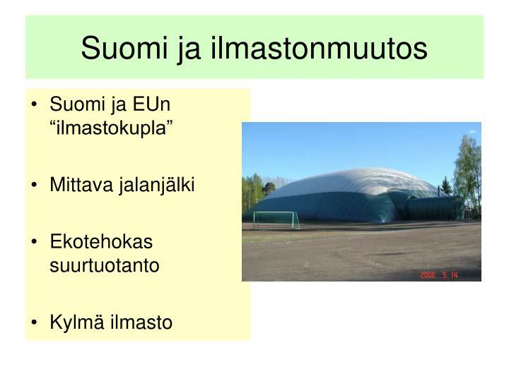 Suomi ja ilmastonmuutos