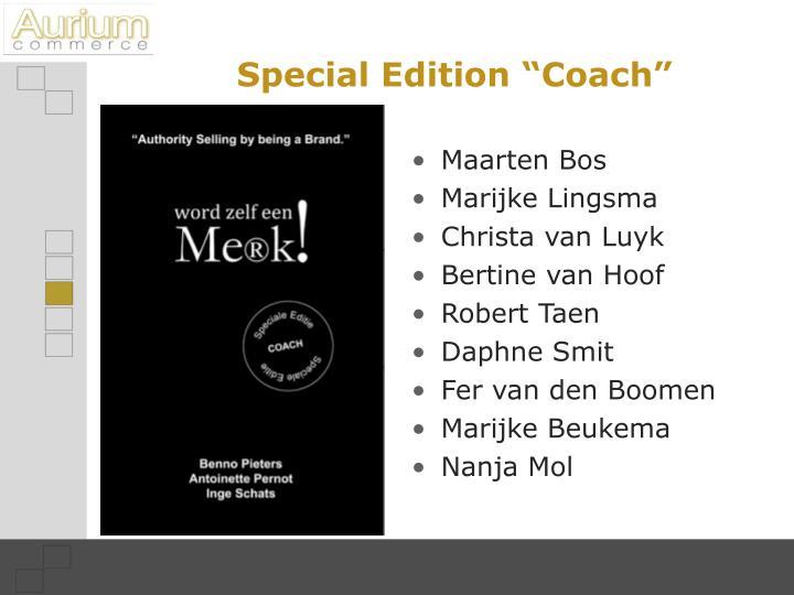 "Special Edition ""Coach"""