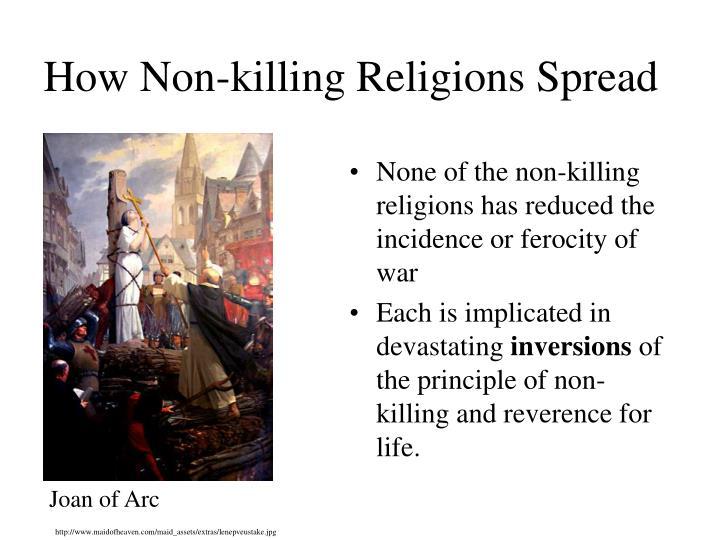 How Non-killing Religions Spread